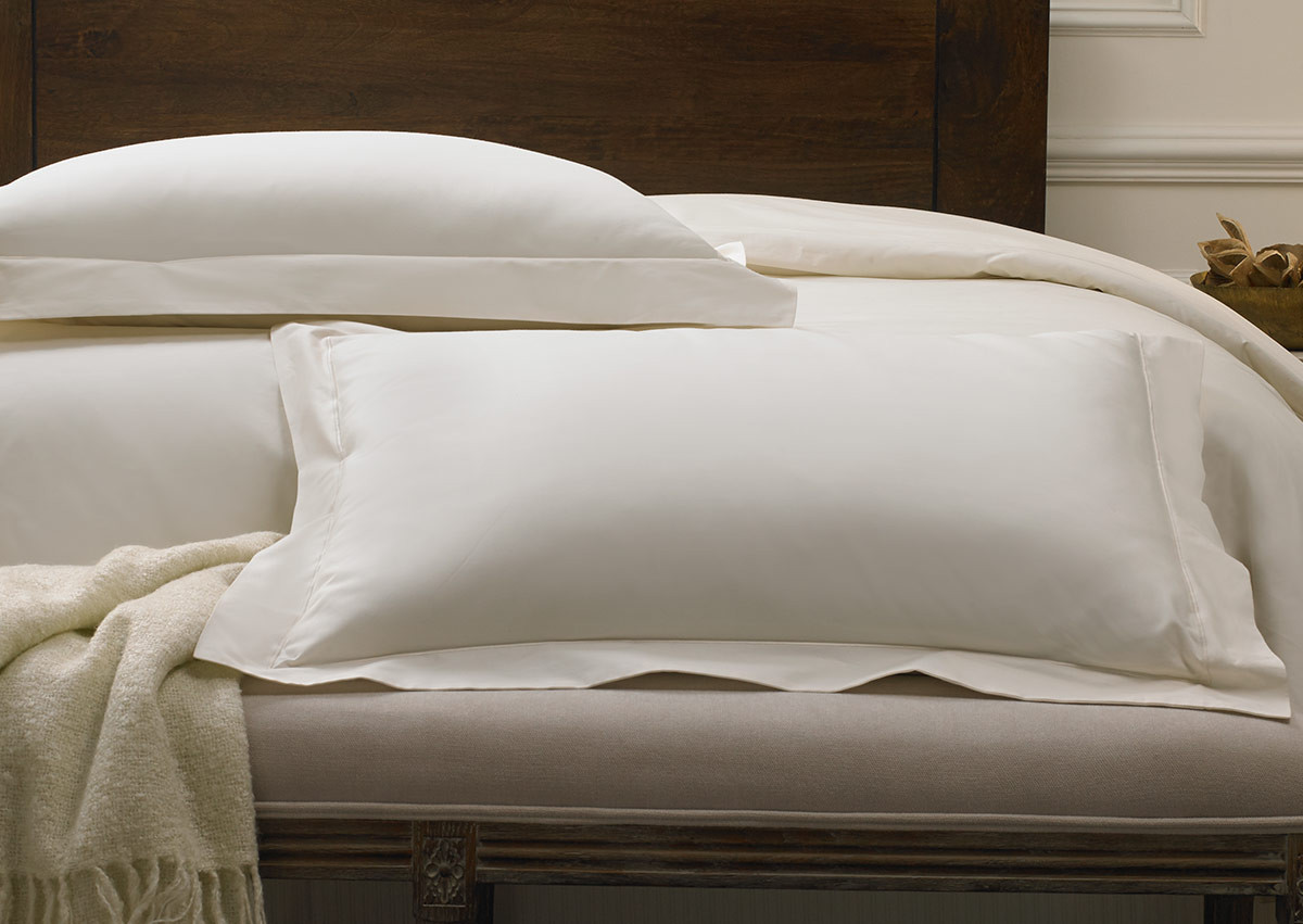 Ivory Deluxe Pillow Shams Sofitel Boutique Cotton