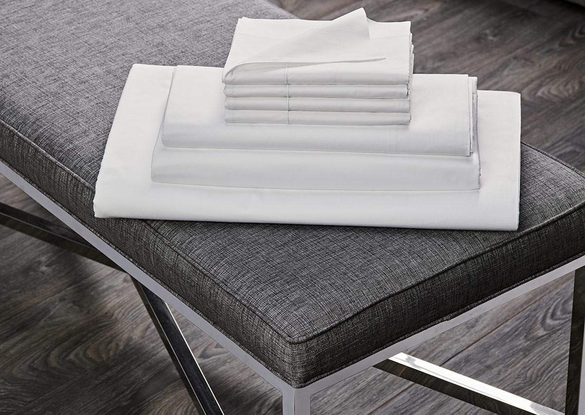 White Percale Linen Set