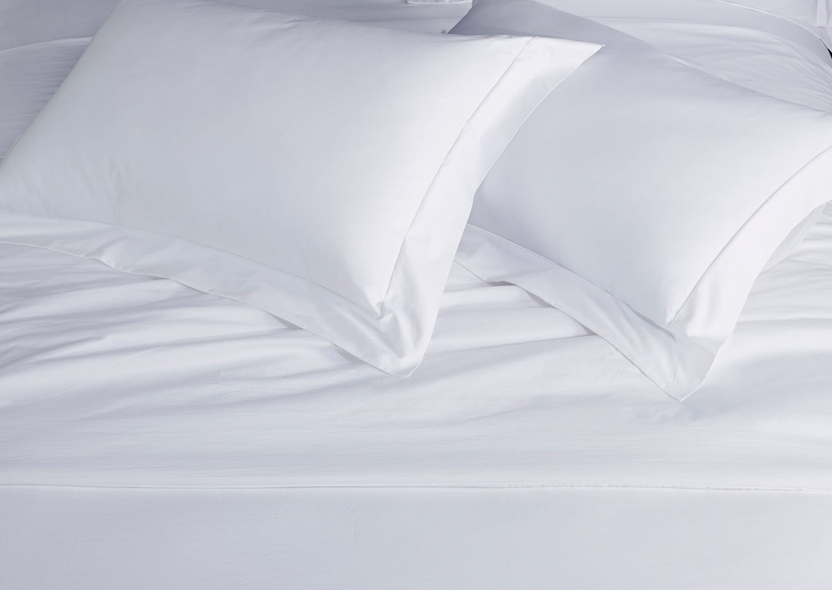 White Percale Pillow Shams By Sofitel Shop 100 Cotton