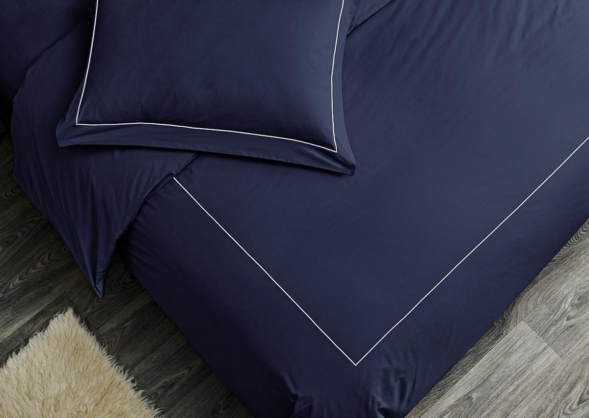 Sapphire Percale Duvet Cover