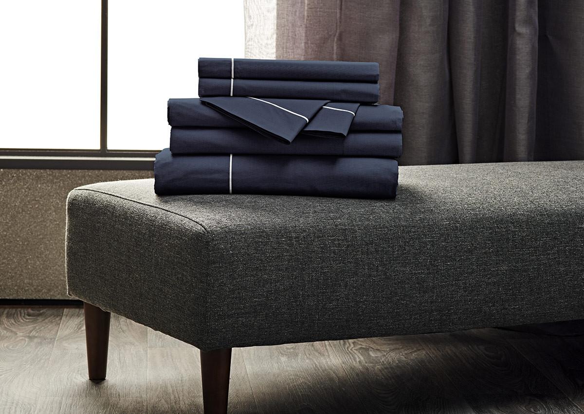 Sapphire Percale Linen Set