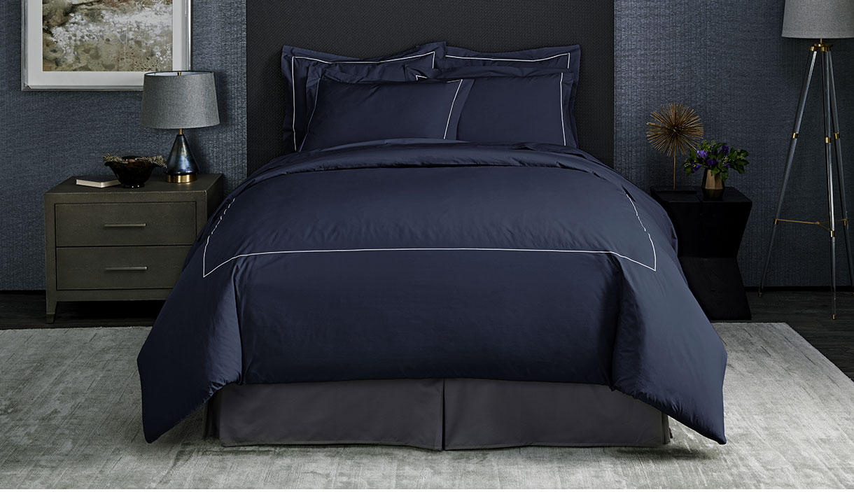 Sapphire Percale Linens