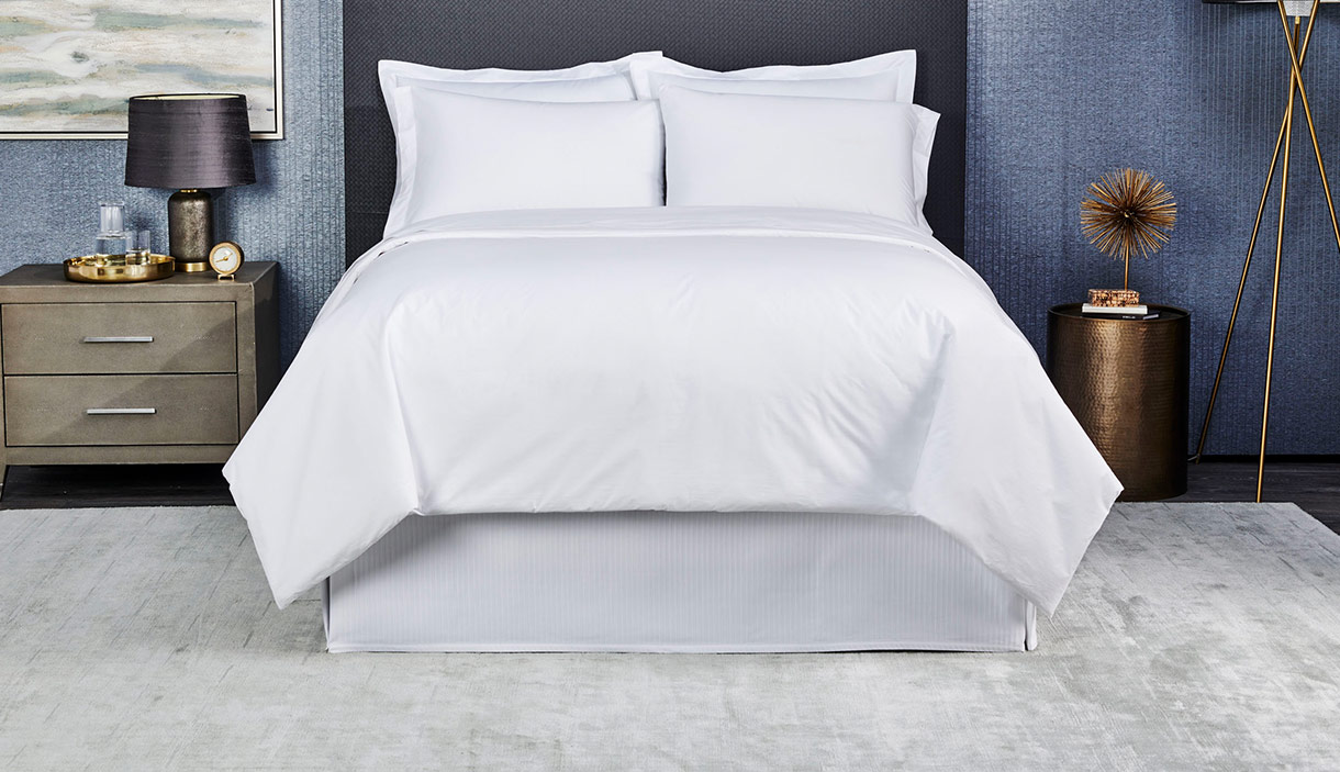 White Percale Linens
